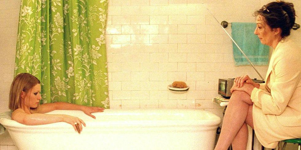 Hot blonde babe taking a bath #6
