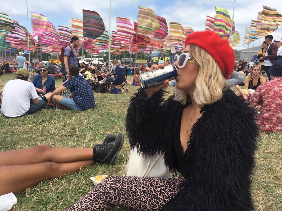 Layer all the statement pieces, there's no such thing as extra at glasto