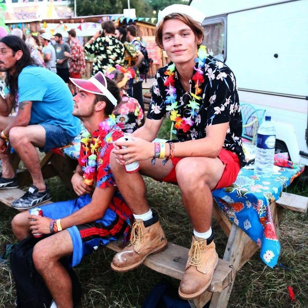 Colours, flowers, sailor hat and timberlands – Joe knows