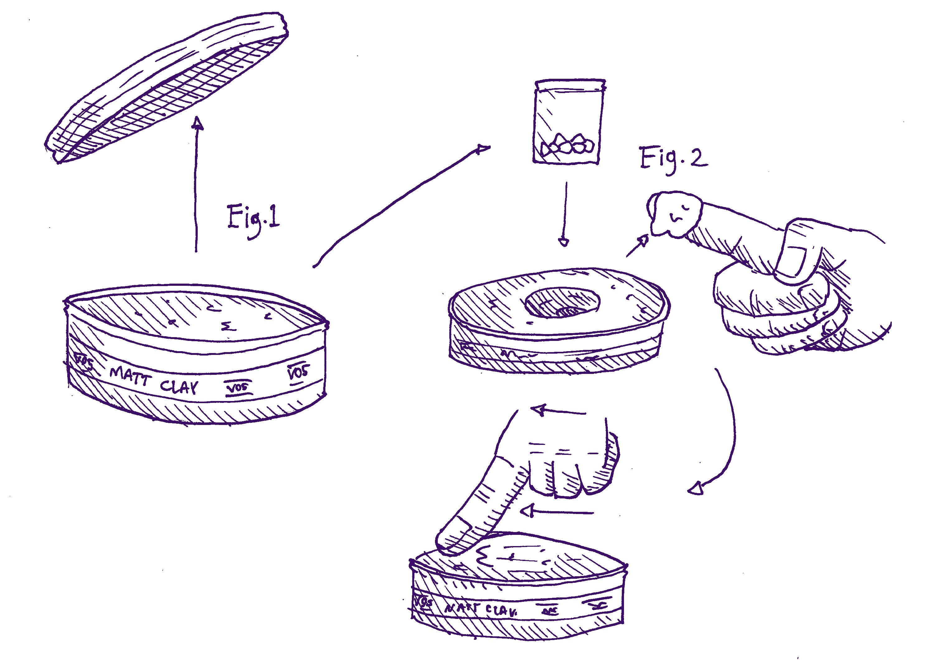 The steps necessary to smuggle drugs into a festival inside a pot of VO5 are shown in this diagram