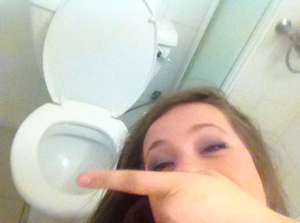 Sloshed in the toilets, we've all been there