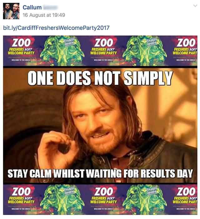 Could he be promoting something? Some kind of zoo?
