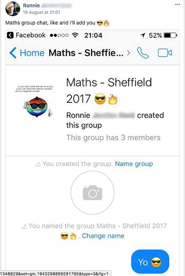 Maths group chat is lit, Yo
