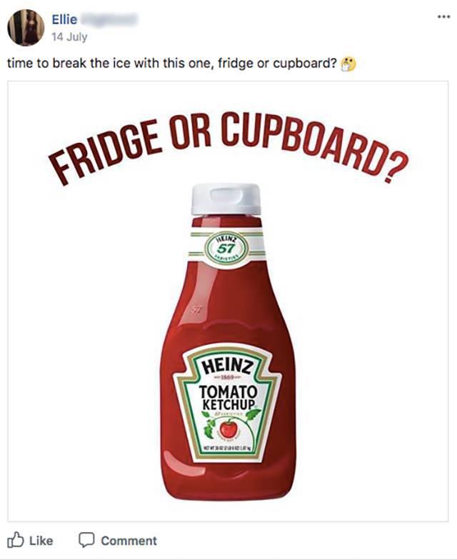 Ketchup belongs in the cupboard btw
