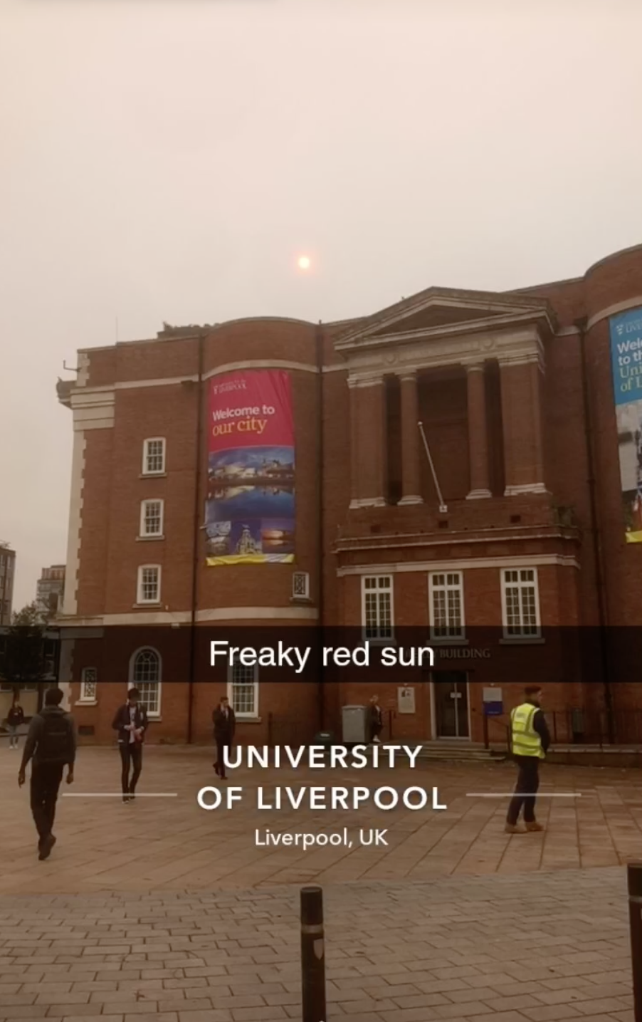 The University of Liverpool's red bricks have been even redder today