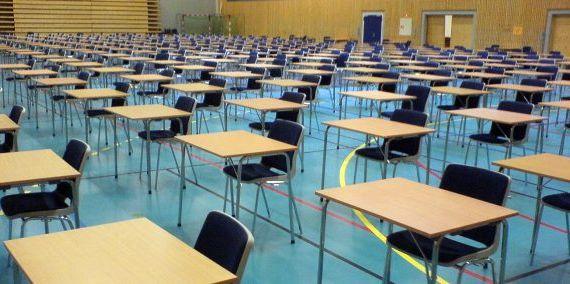 Image may contain: School, Room, Indoors, Classroom