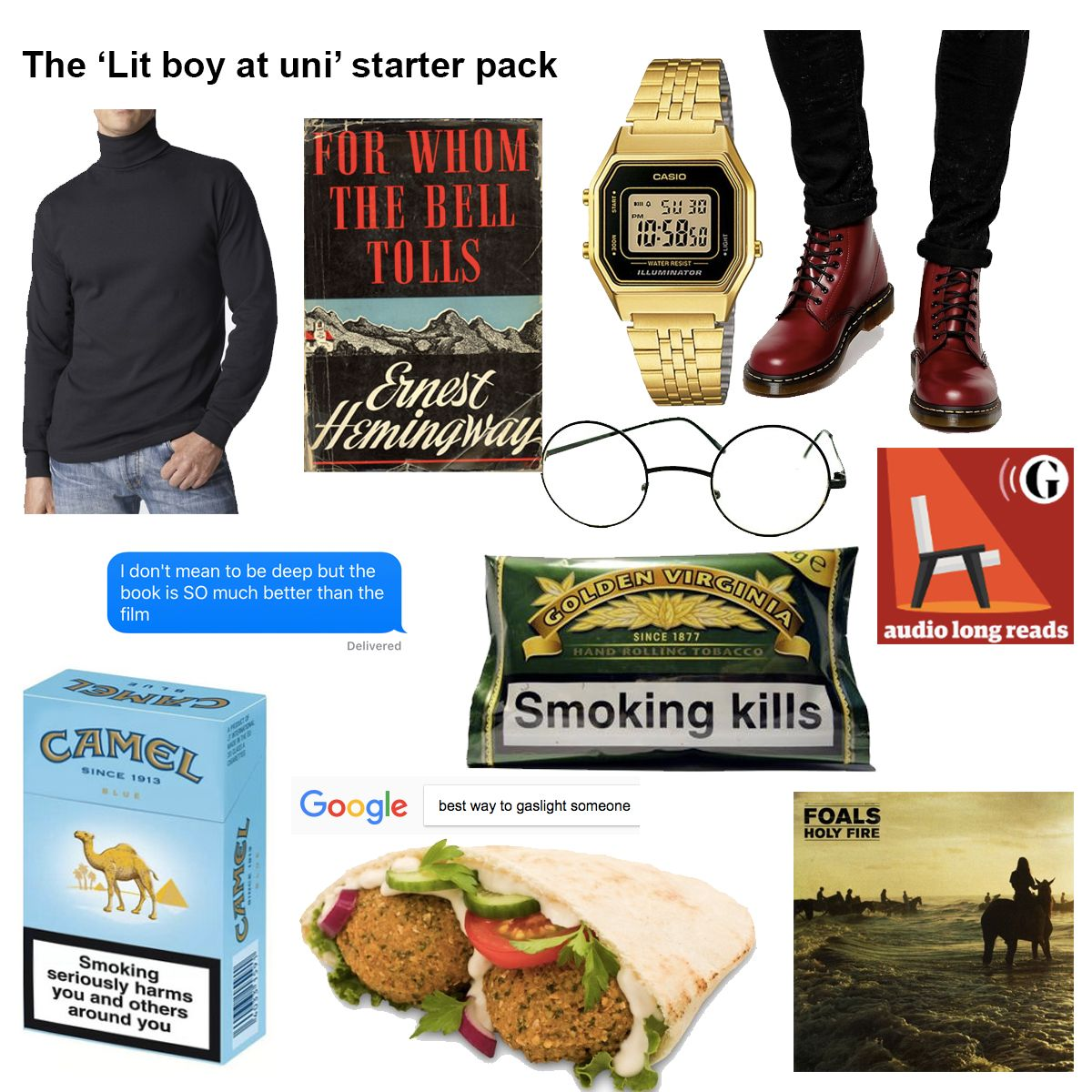 This is every single boy at uni condensed into a starter pack