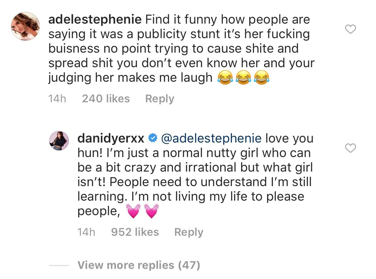 Dani Dyer posts statement on Instagram about split with Jack Fincham
