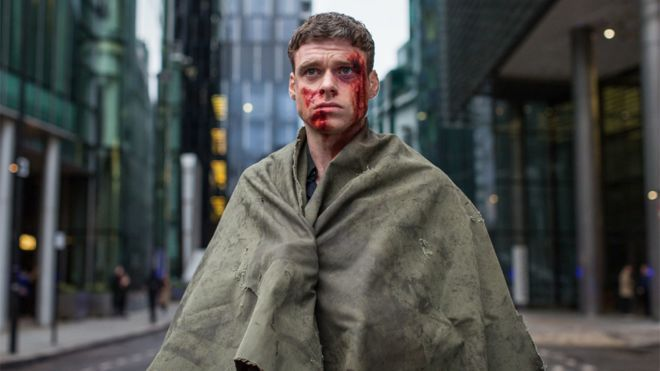 Image may contain: Bodyguard season 2, bodyguard, bbc, richard madden, series two, Man, Fashion, Cloak, Human, Person, Apparel, Clothing