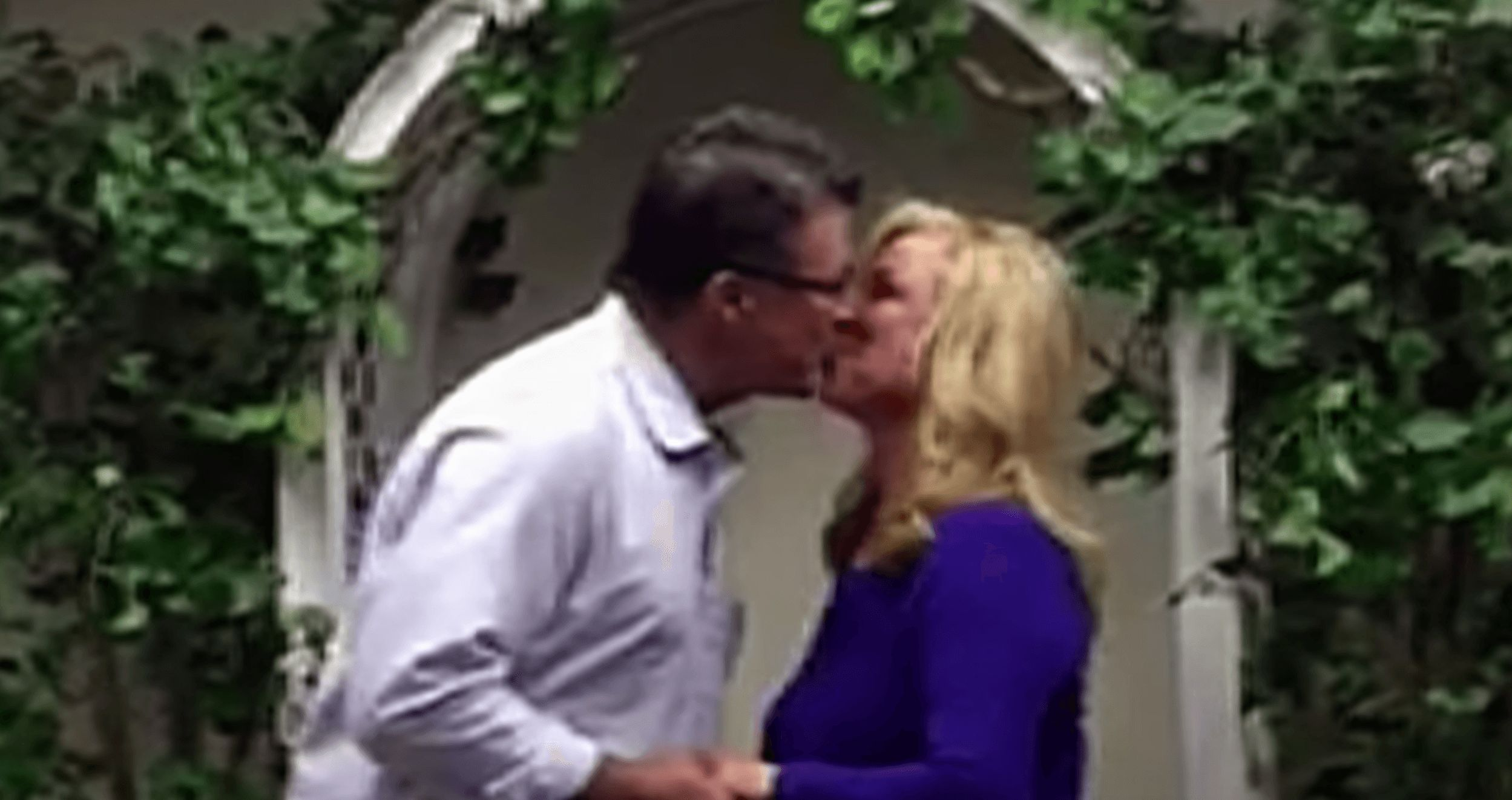 Image may contain: Dirty John: The Dirty Truth, Dirty John, John Meehan, Debra Newell, Netflix, true crime, Dating, Kiss, Kissing, Make Out, Human, Person