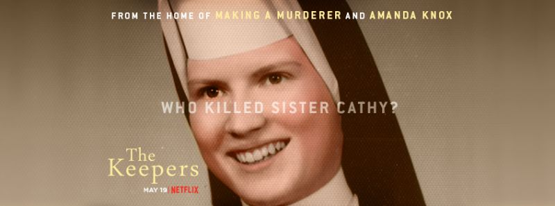 Image may contain: Netflix true crime, True Crime, The Keepers, nun, Dimples, Clothing, Apparel, Head, Human, Person, Face