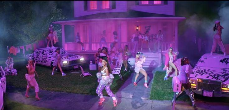 Image may contain: Ariana Grande blackfish, Ariana Grande, Lighting, Disco, Night Club, Club, Human, Person