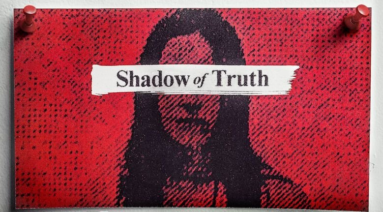 Image may contain: Netflix true crime, shadow of truth, Netflix, crime, documentary, Mat, Rug, Label, Text
