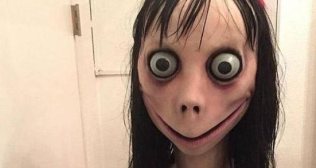 Image may contain: Momo suicide challenge, Momo challenge, Momo, YouTube, WhatsApp, Person, Human, Head