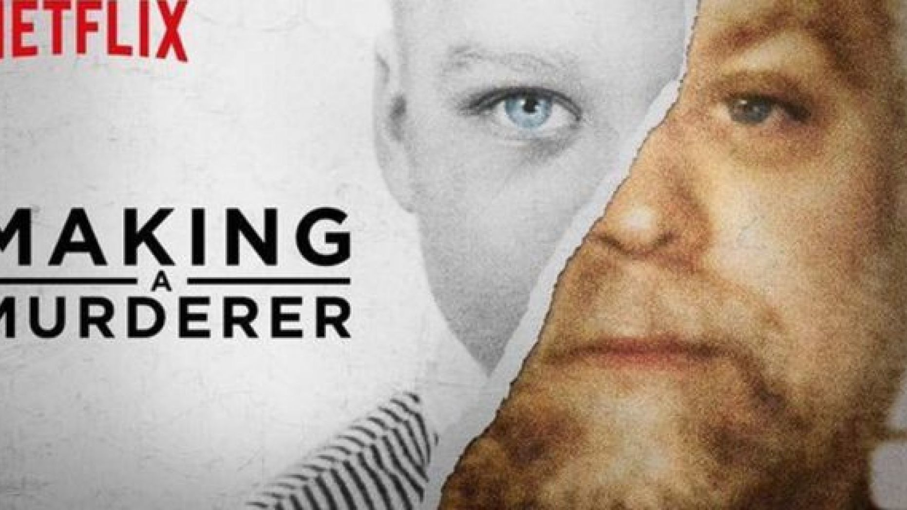 Image may contain: Netflix true crime, crime, documentary, Netflix, Making a Murderer, Photography, Portrait, Photo, Text, Poster, Advertisement, Head, Human, Person, Face