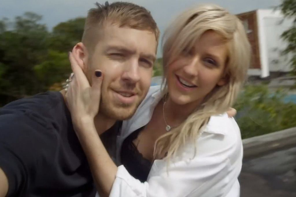 Image may contain: Calvin Harris transformation, Calvin Harris, Ellie Goulding, girlfriend, 2012,  Wedding Gown, Man, Dress, Smile, Gown, Wedding, Bridegroom, Female, Robe, Fashion, Jewelry, Necklace, Accessory, Accessories, Face, Human, Person, Clothing, Apparel