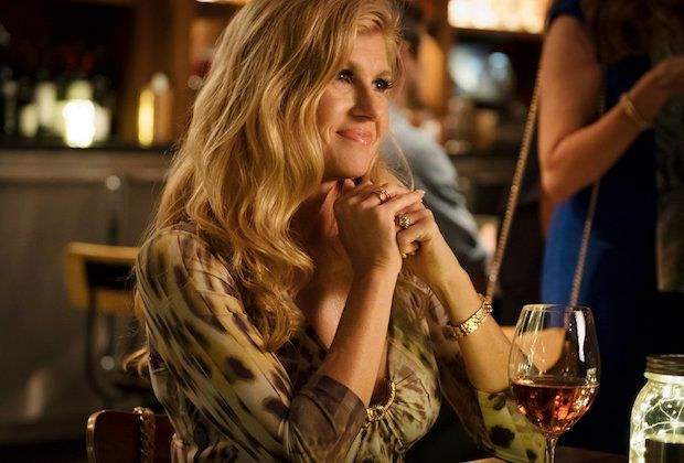 Image may contain: Dirty John, Connie Britton, Debra Newell, Wine Glass, Bar Counter, Woman, Child, Kid, Blonde, Girl, Teen, Female, Dating, Wine, Pub, Alcohol, Drink, Beverage, Glass, Human, Person