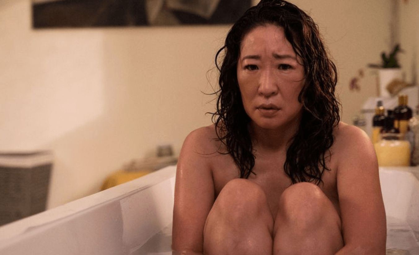 Image may contain: Killing Eve season 2, Killing Eve, trailer, stills,  Bathtub, Tub, Person, Human