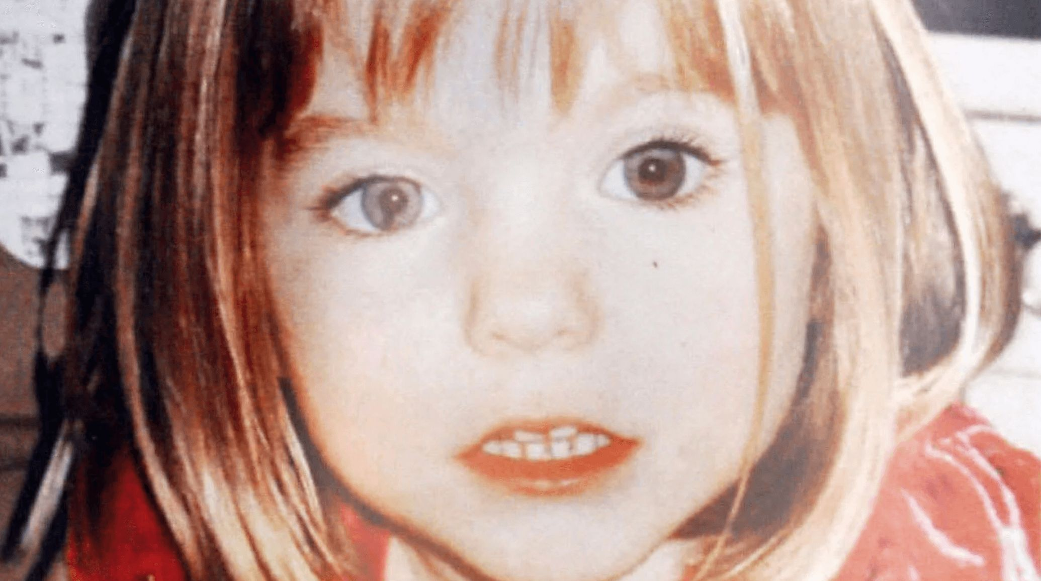 Image may contain: McCann spokesman Clarence Mitchell, Madeleine McCann, Clarence Mitchell, theory, what happened, Netflix, Girl, Art, Drawing, Portrait, Photo, Photography, Outdoors, Smile, Female, Head, Person, Human, Face