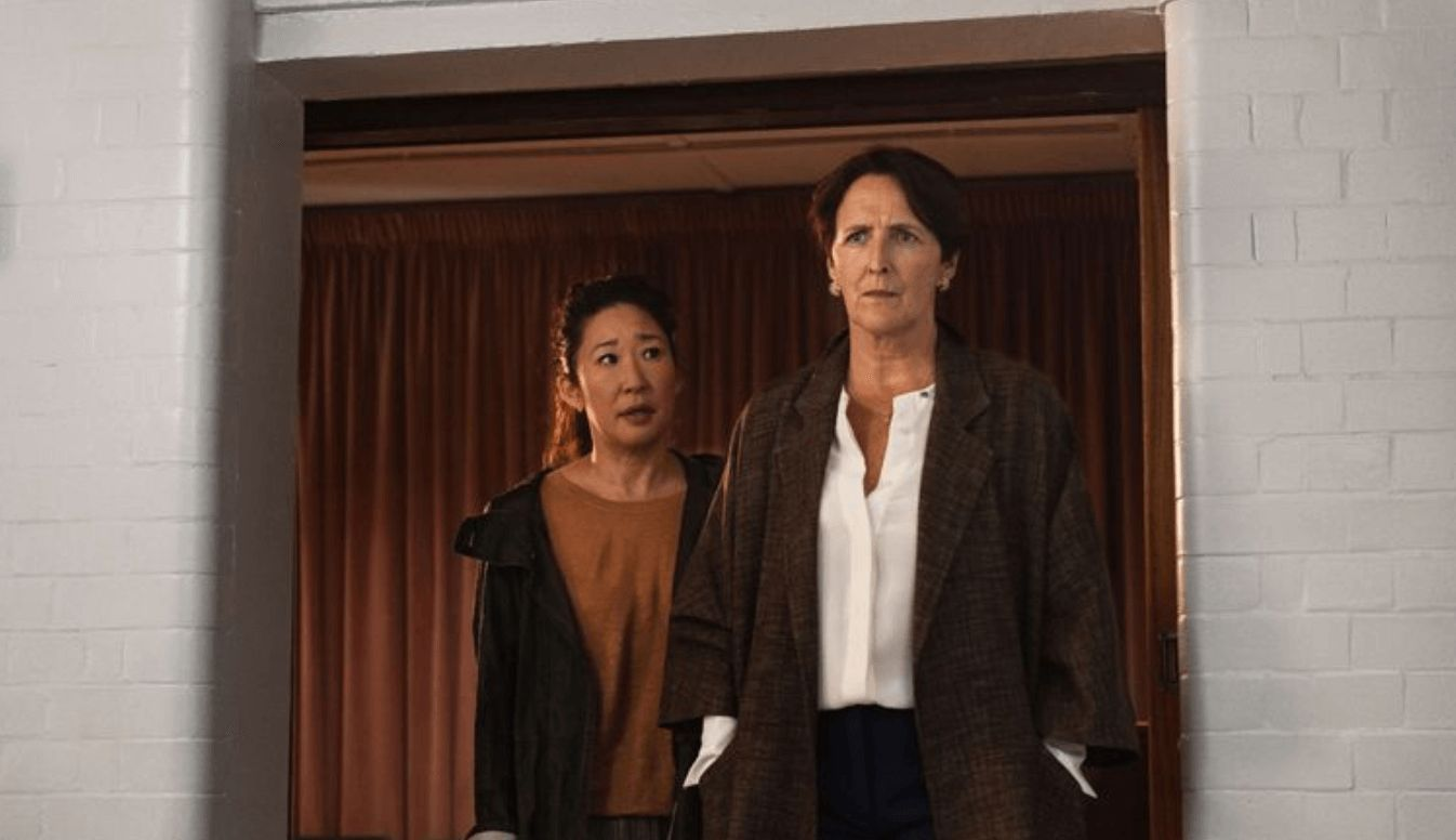 Image may contain: Killing Eve season 2, Killing Eve, Sandra Oh, BBC Three, release date, cast, Long Sleeve, Suit, Sleeve, Blazer, Overcoat, Jacket, Coat, Person, Human, Clothing, Apparel