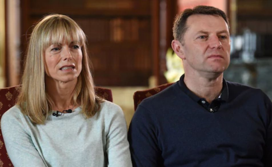Image may contain: Madeleine McCann conspiracy theories, Madeleine McCann, Kate McCann, Gerry McCann, documentary,  People, Room, Indoors, Man, Crowd, Face, Person, Human