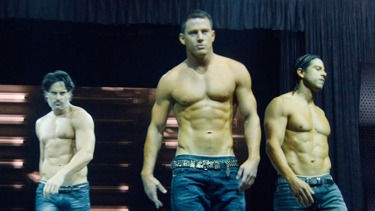 Image may contain: best hangover films on Netflix, UK, US, Channing Tatum, Magic Mike, Arm, Apparel, Pants, Clothing, Man, Torso, Human, Person