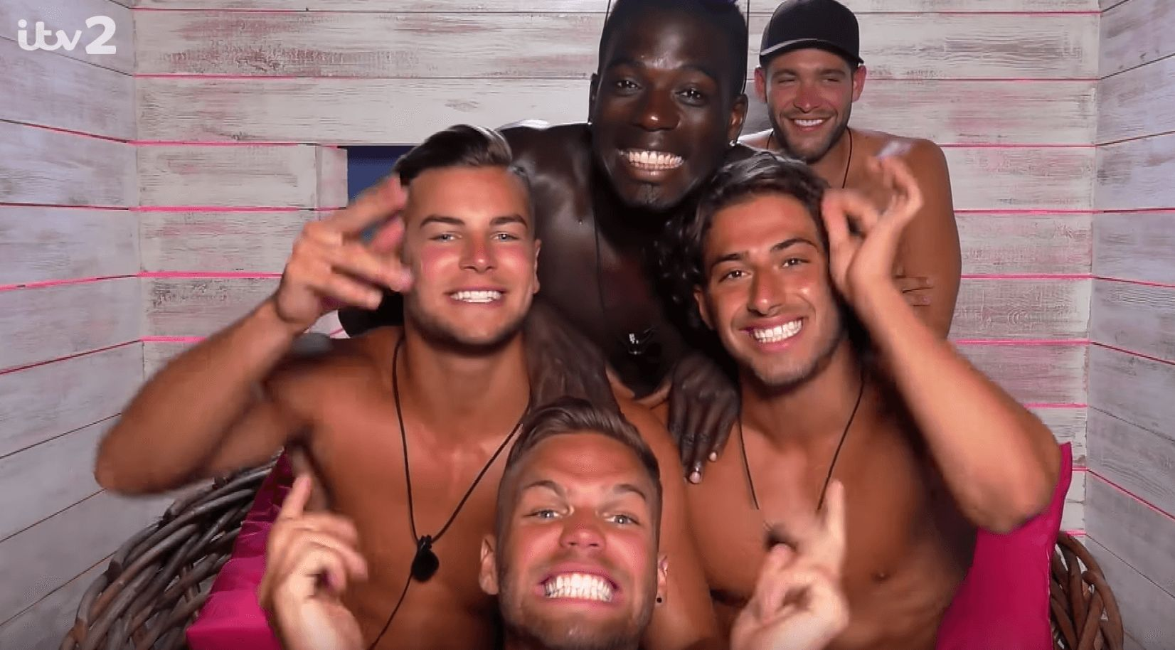 Image may contain: Love Island most shocking moments, Love Island, best bits, highlights, most controversial, series three, Clothing, Apparel, People, Party, Female, Selfie, Photo, Portrait, Photography, Laughing, Smile, Face, Human, Person