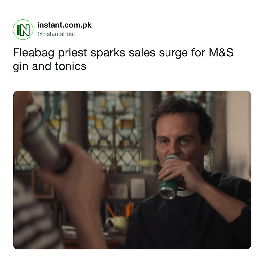 Image may contain: the priest in Fleabag, Fleabag, Andrew Scott, BBC Three, drama, news,  Face, Person, Human
