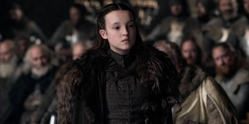 Image may contain: who died in Game of Thrones, Game of Thrones, GoT, battle of winterfell, who died, Killed, season 8 episode 3, lyanna mormont, Fur, Female, Overcoat, Jacket, Coat, Person, Human, Apparel, Clothing