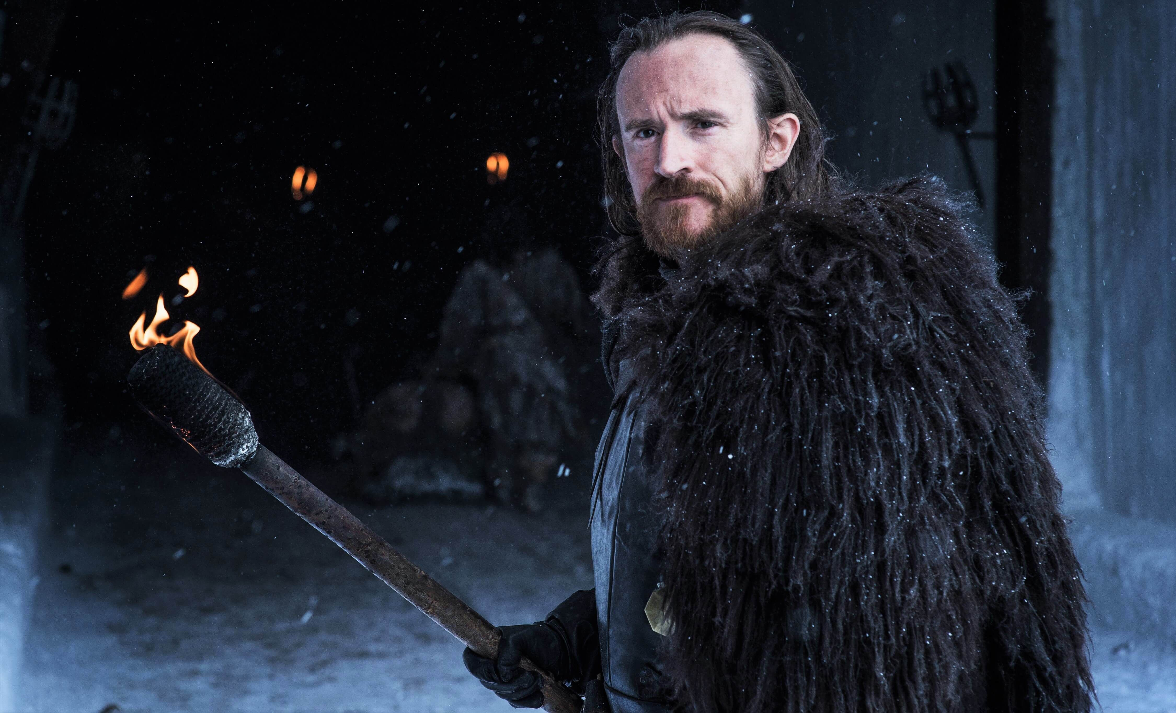 Image may contain: who died in Game of Thrones, Game of Thrones, GoT, Battle of Winterfell, The Long Night, who died, killed, characters, death, The Long Night, season 8 episode 3, Edd Tollett, Overcoat, Outdoors, Beard, Coat, Long Sleeve, Sleeve, Person, Face, Human, Apparel, Clothing