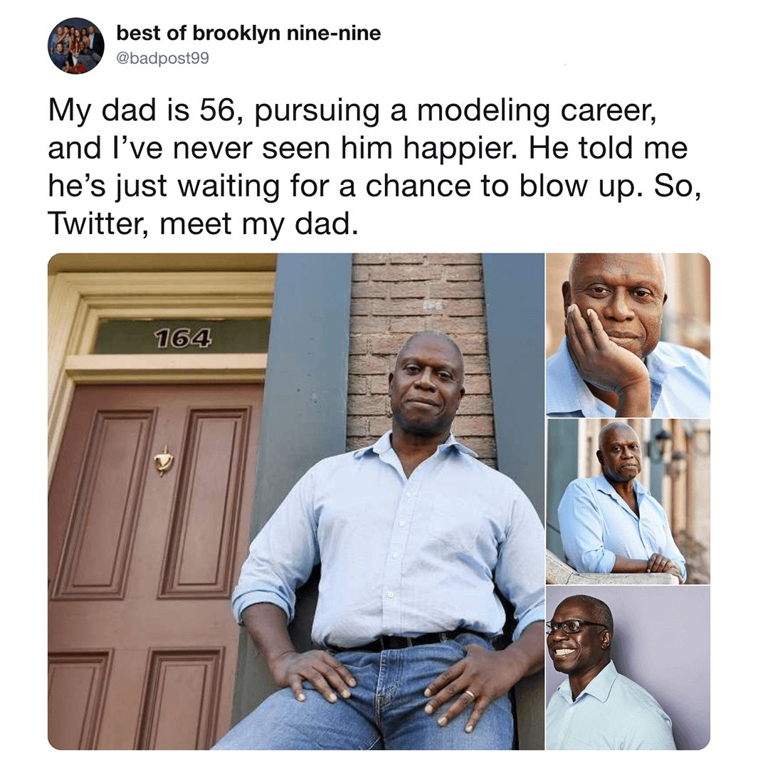 Image may contain: Twitter meet my dad, meet my dad meme, meme, twitter, hot dad, dad twitter,  Pants, Door, People, Poster, Face, Advertisement, Clothing, Apparel, Person, Human