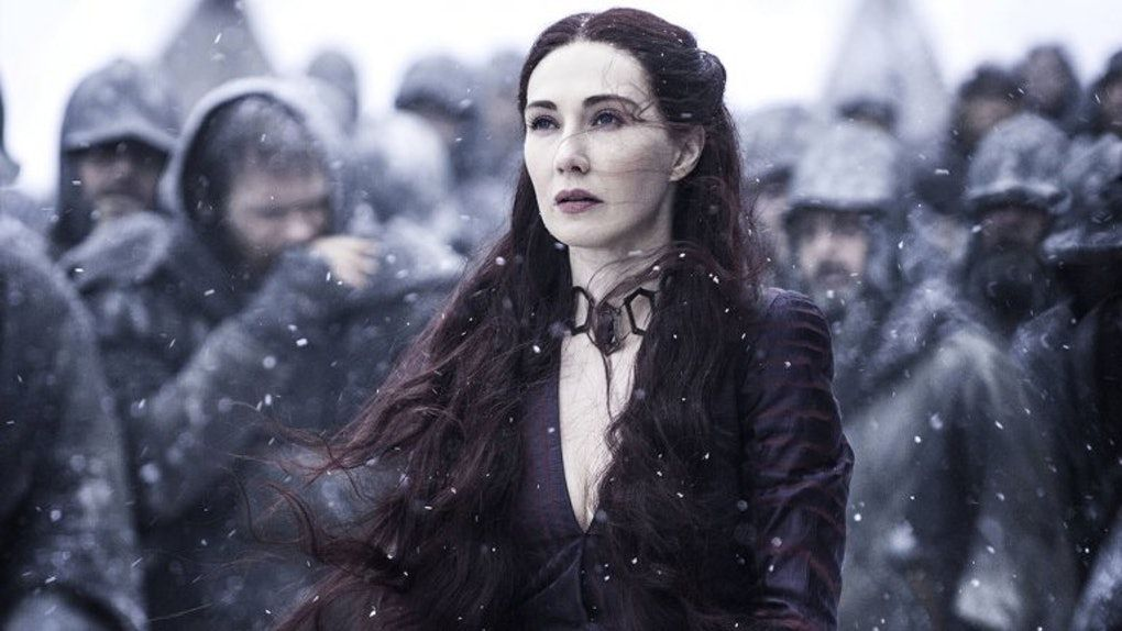 Image may contain: who died in Game of Thrones, Game of Thrones, season 8 episode 3, Melisandre, spoilers, Battle of Winterfell,  Paper, Outdoors, Coat, Woman, Apparel, Helmet, Clothing, Female, Human, Person, Face