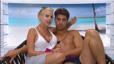 Image may contain: Love Island most shocking moments, Love Island, 2015, series 1, season one, highlights, best bits, People, Dating, Human, Person