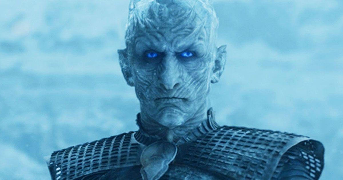 Image may contain: who died in Game of Thrones, Game of Thrones, The Night King, Battle of Winterfell, season 8 episode 3, spoilers, The Long Night, Person, Human, Head, Alien