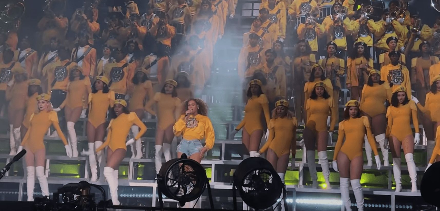 Image may contain: Beyoncé documentary, Beyonce, Netflix, Homecoming, Coachella 2018, news, release date, trailer, pictures, cast, Vehicle, Transportation, People, Crowd, Vacation, Furniture, Chair, Person, Human