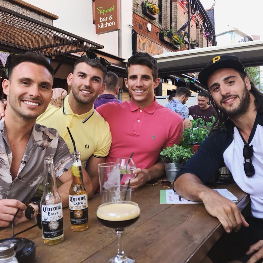 Image may contain: Love Island 2019 Instagrams, Callum Macleod, Instagram, Love Island, 2019, contestant, Islander, cast, line up, Bottle, Glass, Bar Counter, Pub, Alcohol, Drink, Beer, Beverage, Person, Human