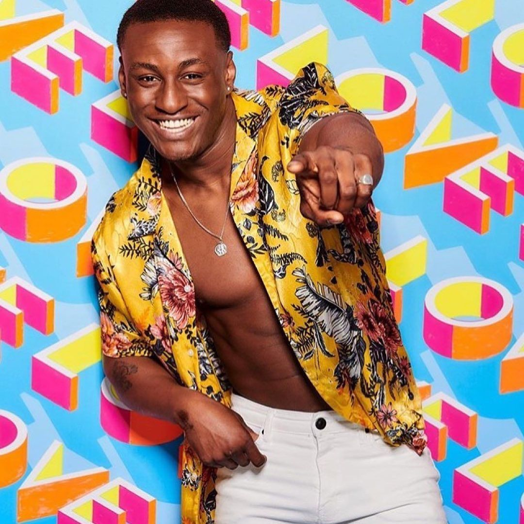 Image may contain: Love Island 2019 Instagrams, Sherif Lanre, Instagram, Love Island, 2019, contestants, lineup, cast, Islanders, Female, Clothing, Apparel, Home Decor, Face, Person, Human