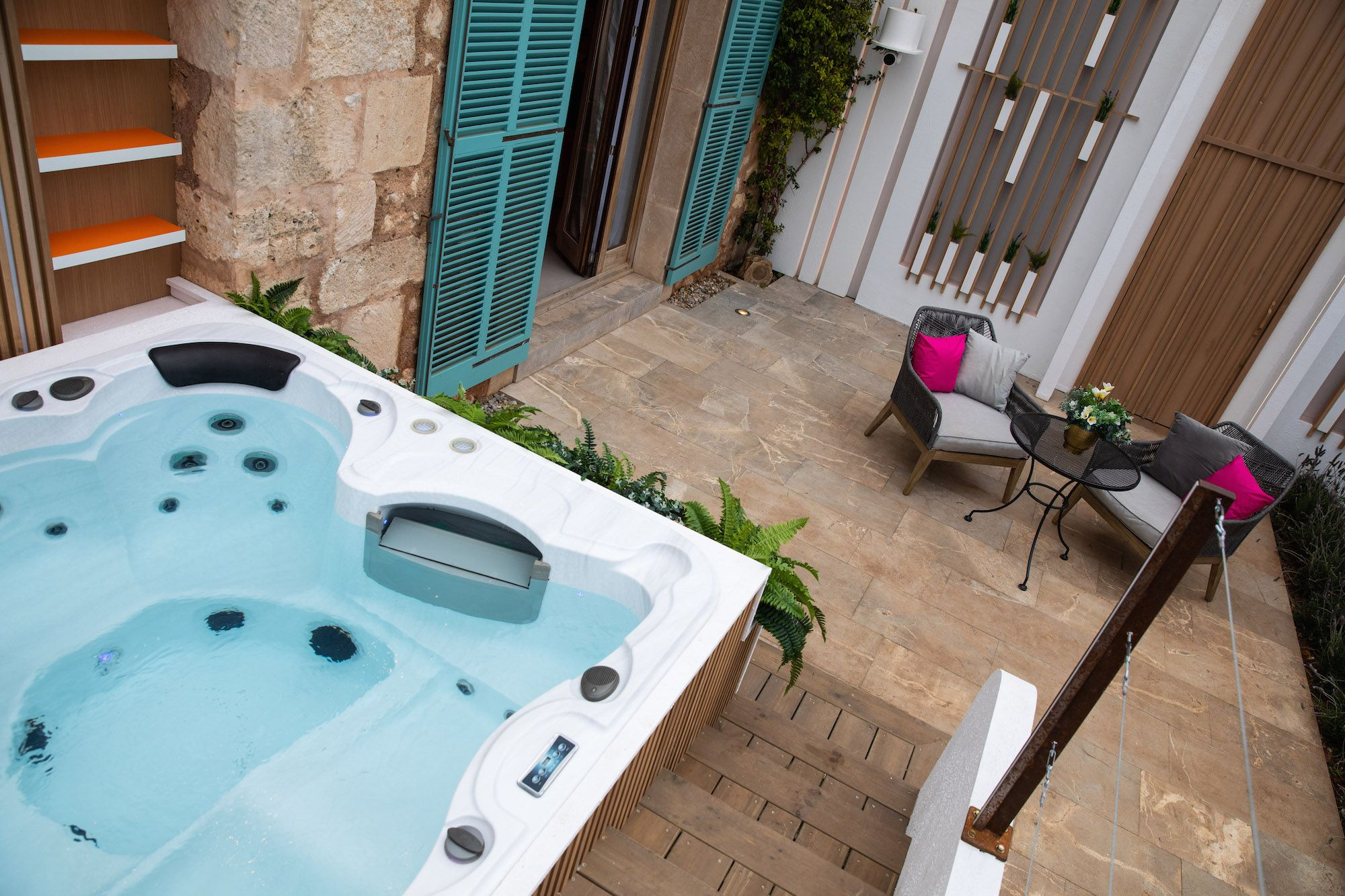 Image may contain: Love Island villa, Love Island, 2019, location, pictures, inside, Sant Llorenç des Cardassar, Majorca, first look, Home Decor, Tub, Hot Tub, Jacuzzi