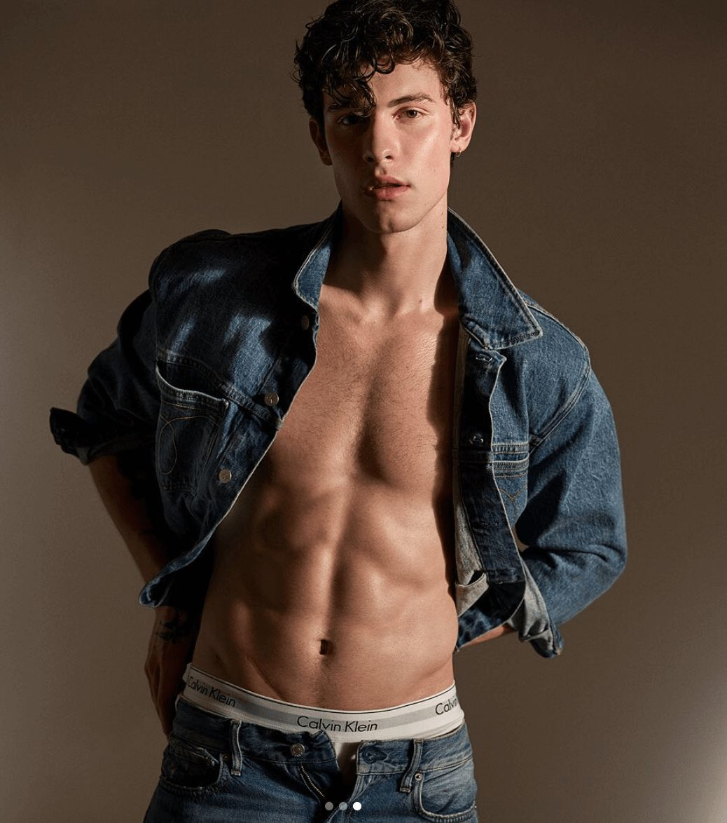 Image may contain: Shawn Mendes Calvin Klein, Shawn Mendes, Calvin Klein, underwear, nudes, photos, Pants, Apparel, Clothing, Man, Human, Person