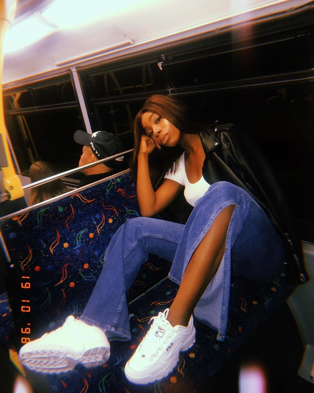 Image may contain: Love Island 2019 Instagrams, Yewande Biala, Instagram, Love island, 2019, contestant, Islander, cast list, handle, Insta, social media, followers, Pants, Night Life, Human, Person, Shoe, Footwear, Clothing, Apparel