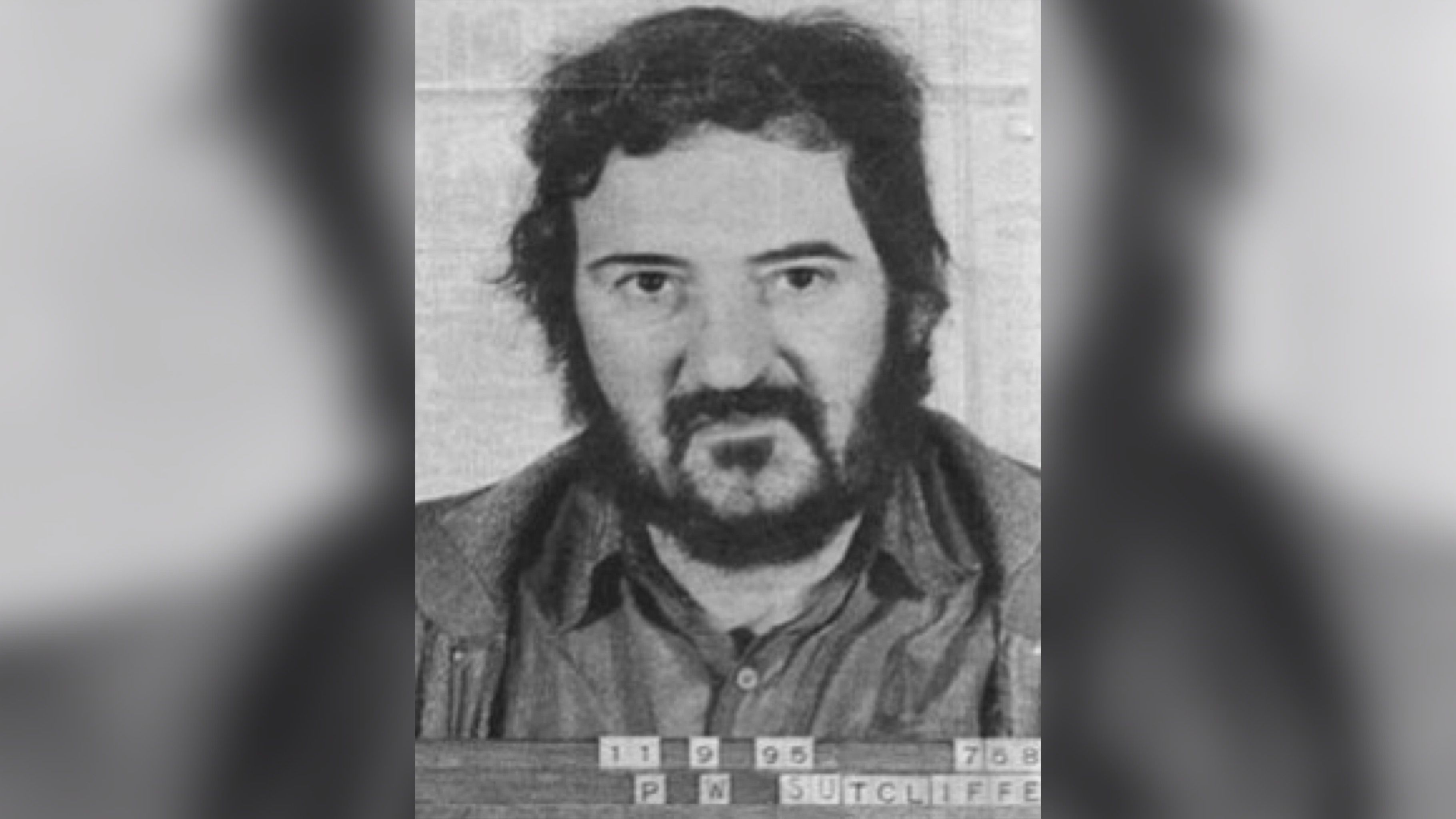 Image may contain: Yorkshire Ripper documentary, Netflix, Peter Sutcliffe, murder, true crime, doc, Yorkshire Ripper, real life, mugshot, now, 2019, Poster, Advertisement, Photography, Photo, Portrait, Head, Text, Human, Face, Person