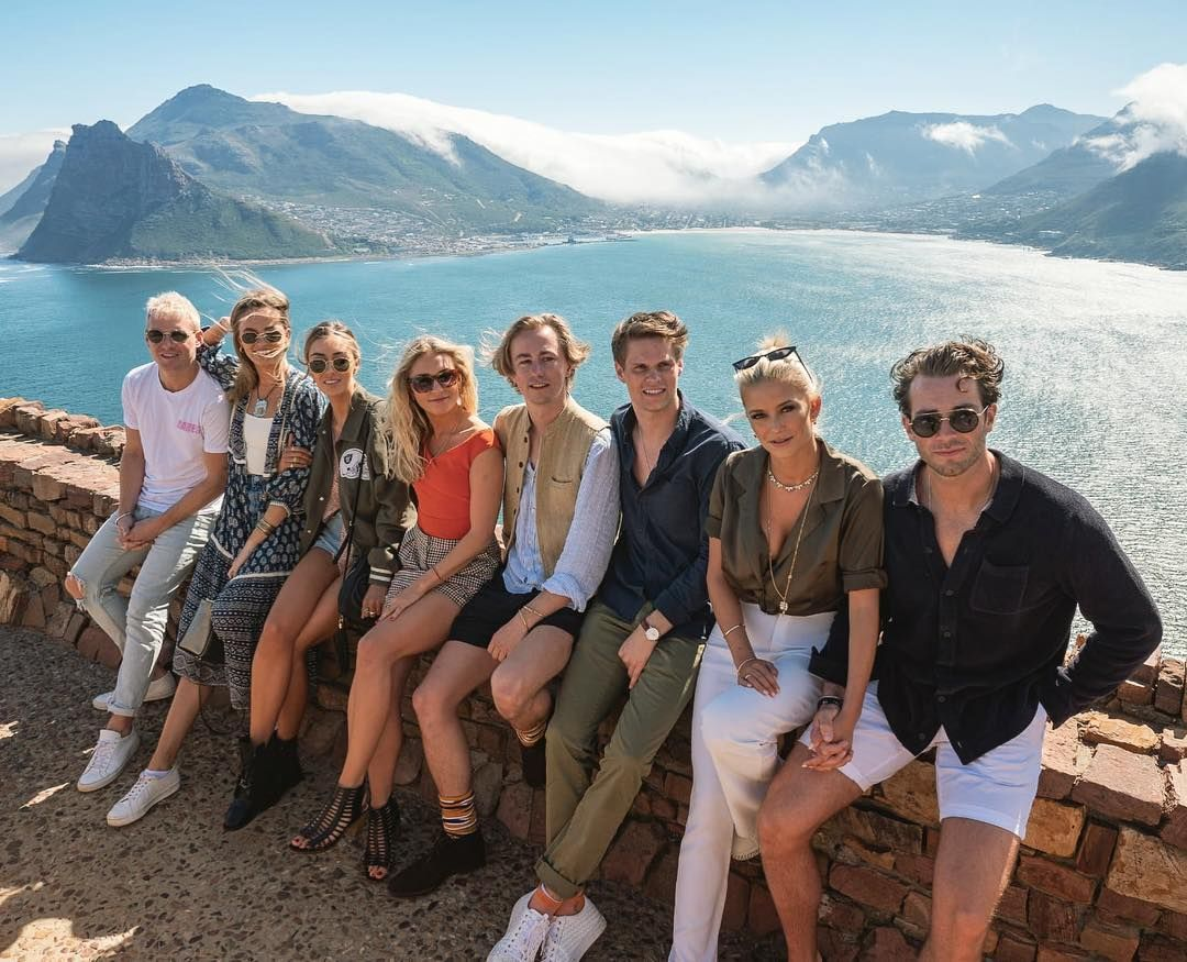 Image may contain: Moondance Villa, Made in Chelsea, cast, South Africa, Cape Town, location, cost,Shorts, Family, Accessory, Sunglasses, Accessories, Nature, Outdoors, Vacation, People, Footwear, Apparel, Shoe, Clothing, Person, Human