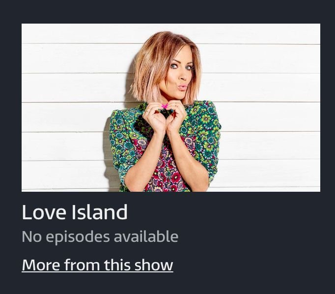 Image may contain: Love Island on Netflix, Love Island, Netflix, taken off, down, 2019, season one, season two, why,  Sleeve, Fashion, Female, Person, Human, Apparel, Clothing
