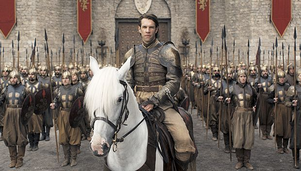 Image may contain: Game of Thrones white horse, game of thrones, Soldier, People, Horse, Mammal, Animal, Military Uniform, Military, Human, Person
