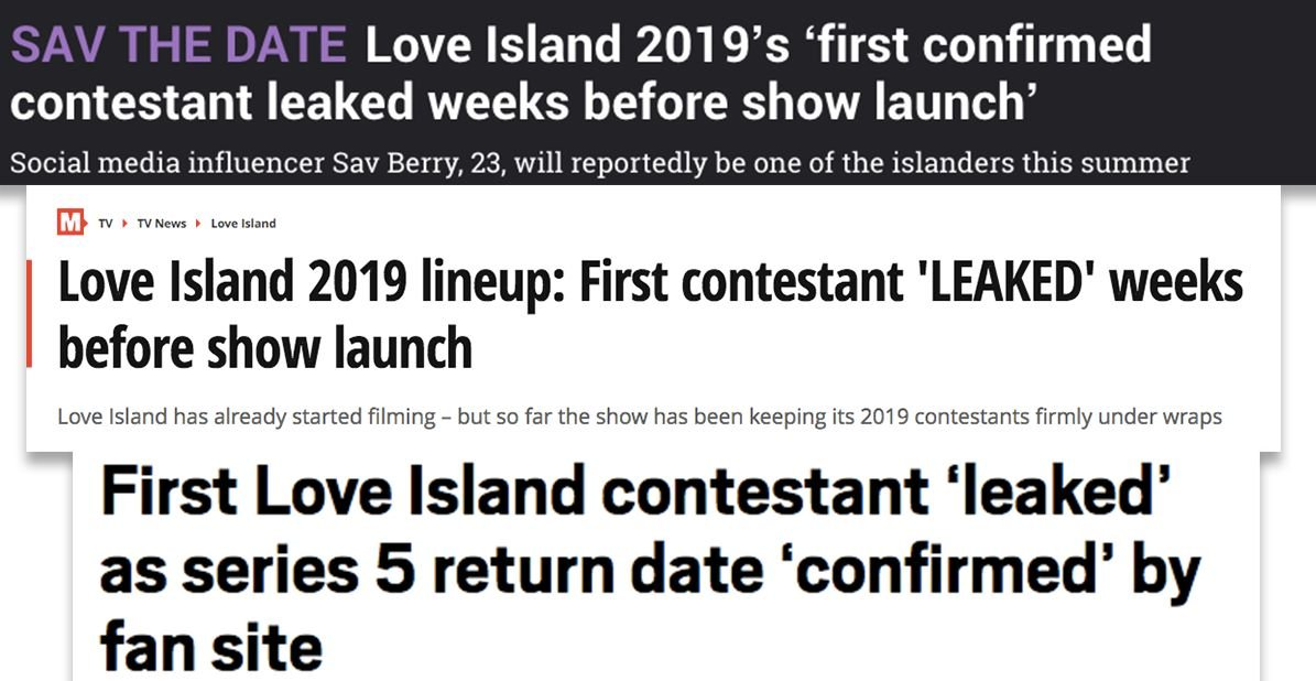 Image may contain: Sav Berry, Love Island, 2019, rumoured contestant, lies, fake, hoax, Text
