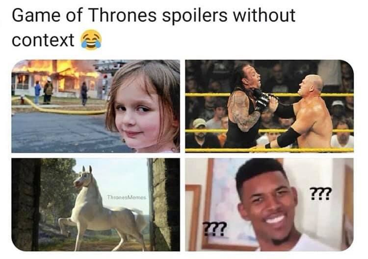 Image may contain: Game of Thrones season 8 episode 5 memes, Game of Thrones, memes, meme, GoT, Game of Thrones memes, spoilers without context, bad writers,Text, Document, Id Cards, Collage, Poster, Advertisement, Human, Person