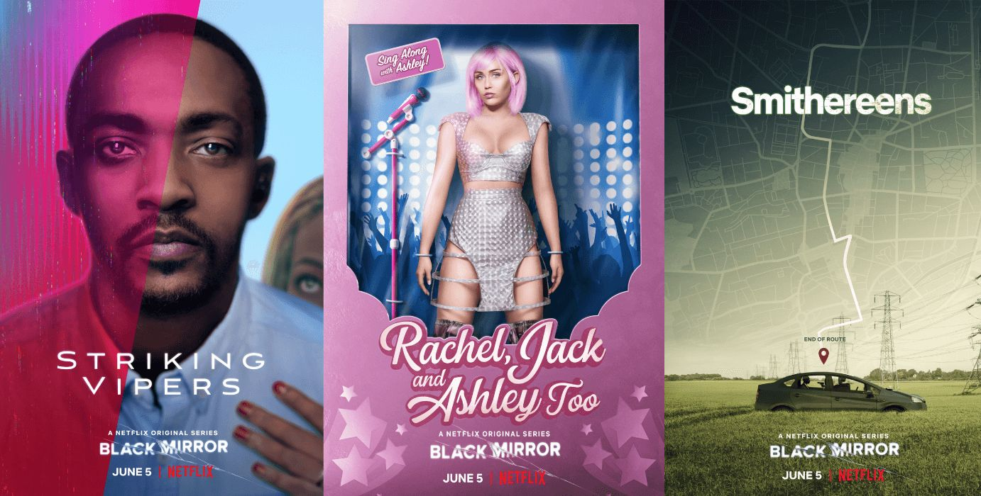 Image may contain: Black Mirror season five review, Black Mirror, Netflix, season 5, Charlie Brooker, Striking Vipers, Rachel Jack and Ashley Too, Smithereens, Miley Cyrus, new episodes,  Automobile, Transportation, Vehicle, Car, Person, Human, Brochure, Paper, Flyer, Poster, Advertisement