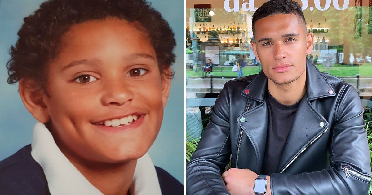 Image may contain: Love Island baby pictures, Danny Williams, Love Island, baby, childhood, pictures, young, old, throwback, school, Hair, Person, Human, Face, Clothing, Jacket, Coat, Apparel