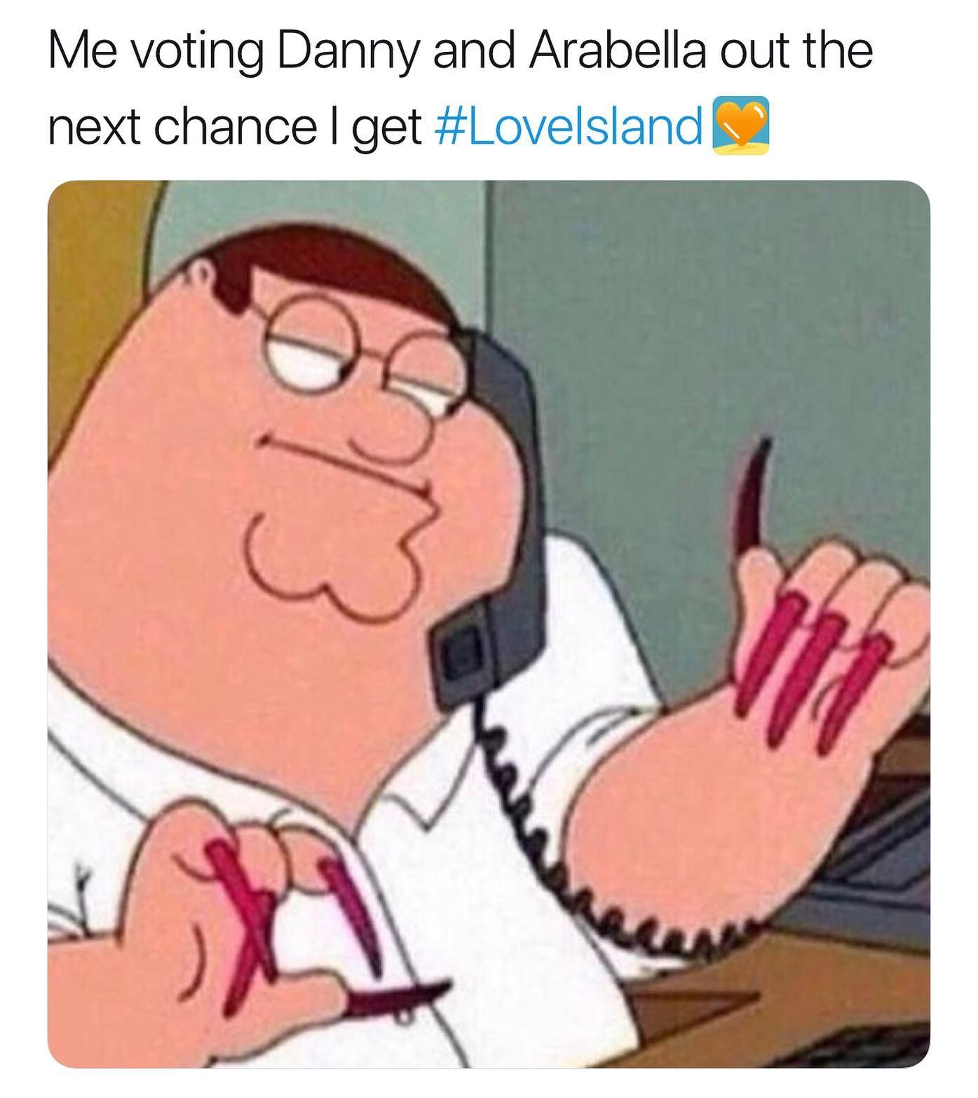 Image may contain: Love Island savage tweets, Love Island, memes, tweets, savage, online buzz, Danny, Arabella, Hand