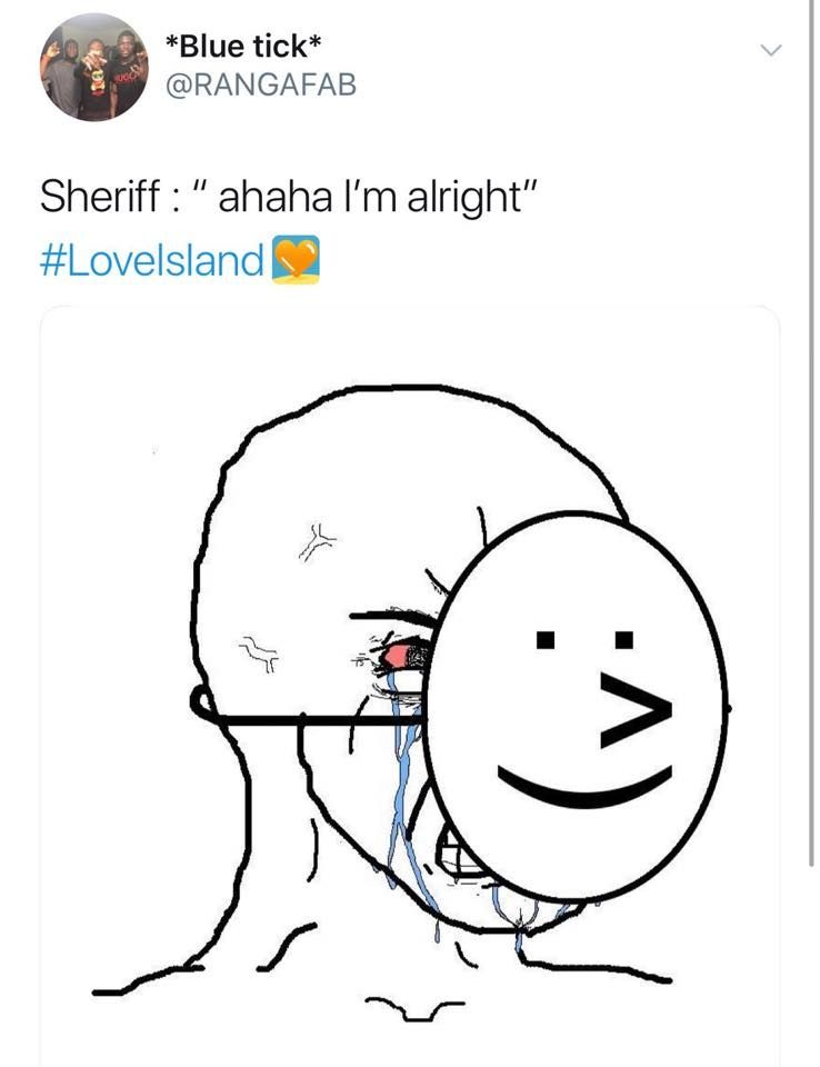 Image may contain: Love Island episode one memes, Sherif, Love island, meme, 2019, funny, reaction, Head